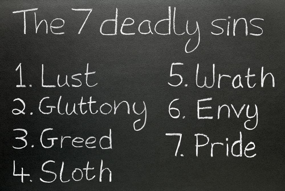The Seven Deadly Sins, the opposite to the Seven Virtues.