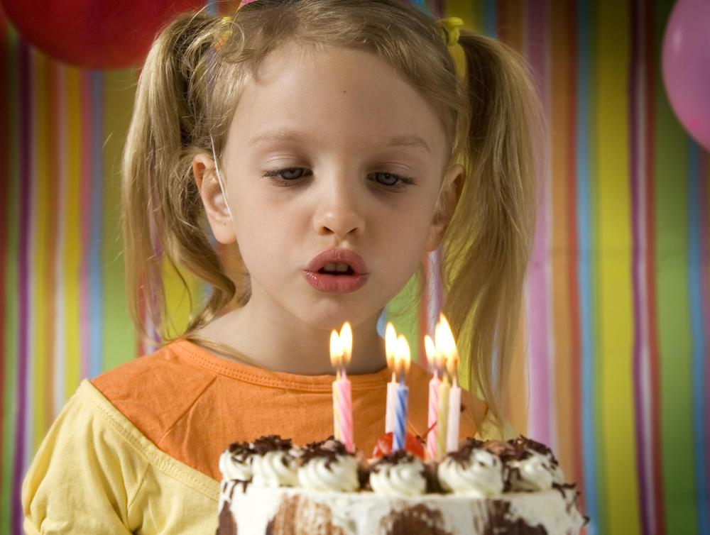 "The ""Happy Birthday"" song is often followed by the birthday person blowing out candles on a cake."