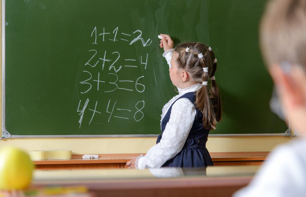 Children with learning disabilities in math will usually begin to show symptoms at an early age.