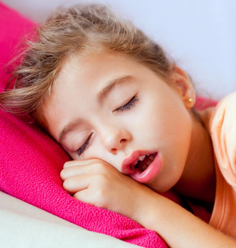 Snoring isn't a concern for children if it's the result of sinus congestion.