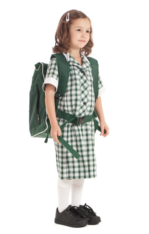 A parochial school students usually wear uniforms, though some public schools require this, as well.