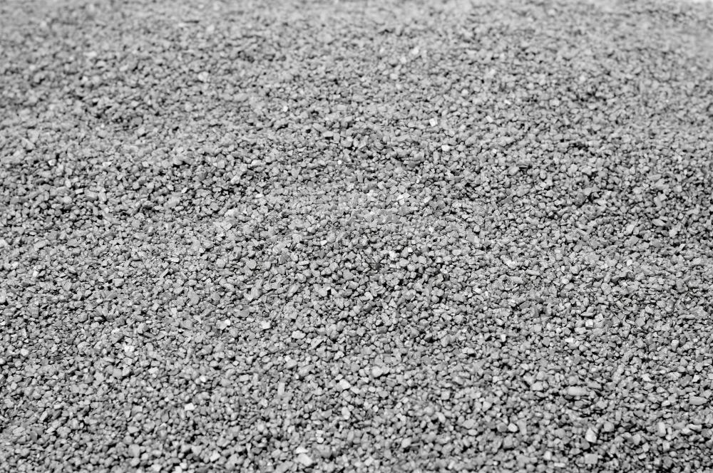 Gravel may be used to line a surface french drain.