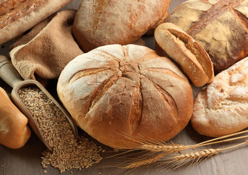 Whole grain breads are typically low fat, cholesterol free, and high in fiber.