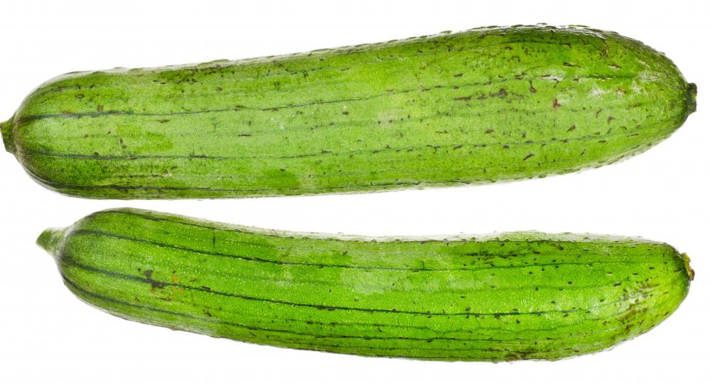 Loofah is a green fruit that is traditionally grown in warm regions.