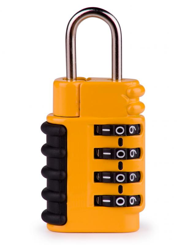 TSA approved luggage locks can be opened with a master key.