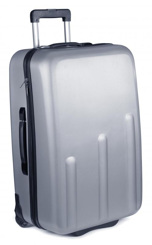 Aluminum luggage offers the advantage of sturdiness.