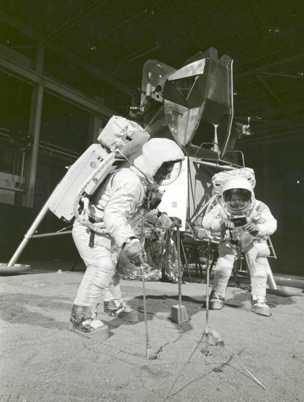 Mockups are often used as props around which training for extreme missions can be conducted, as was the case when NASA astronauts used a lunar lander mockup to prepare for the Apollo landings.
