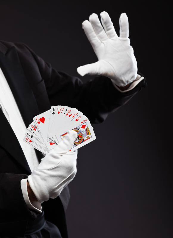Card tricks are a popular form of parlor trick.