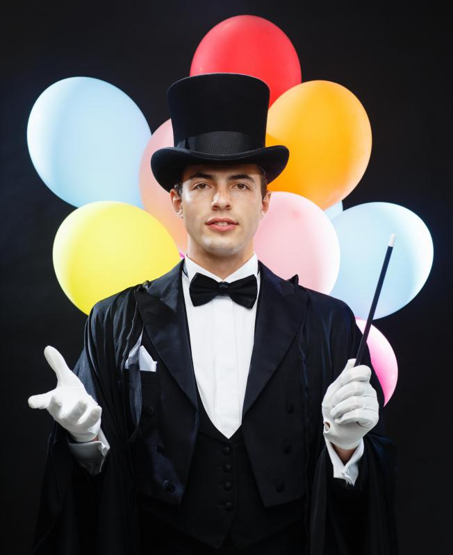 A magician may perform at birthday parties.