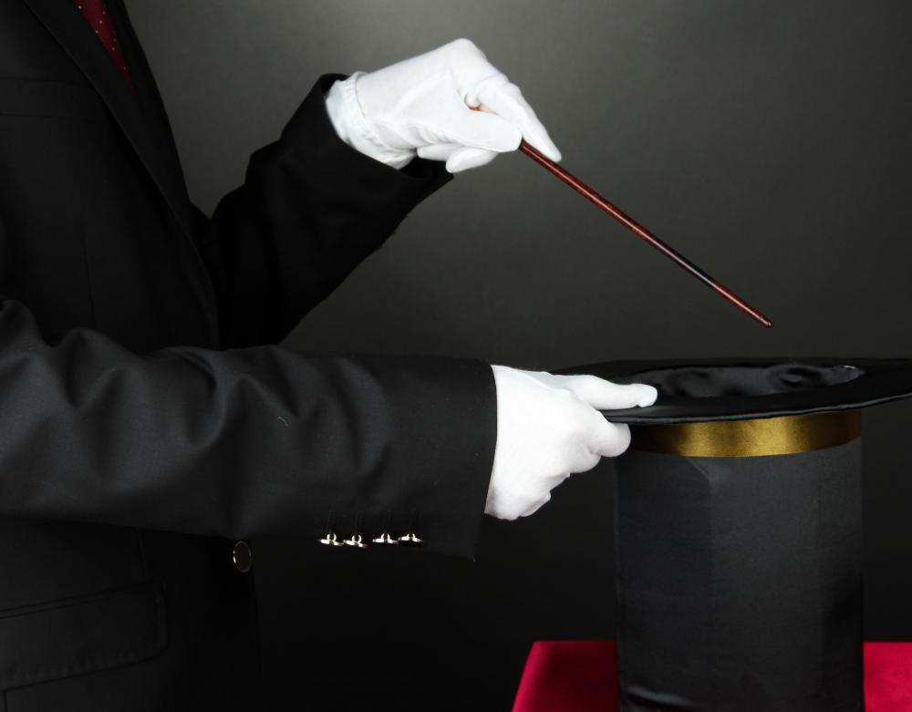Parlor tricks are commonly used by amateur magicians.