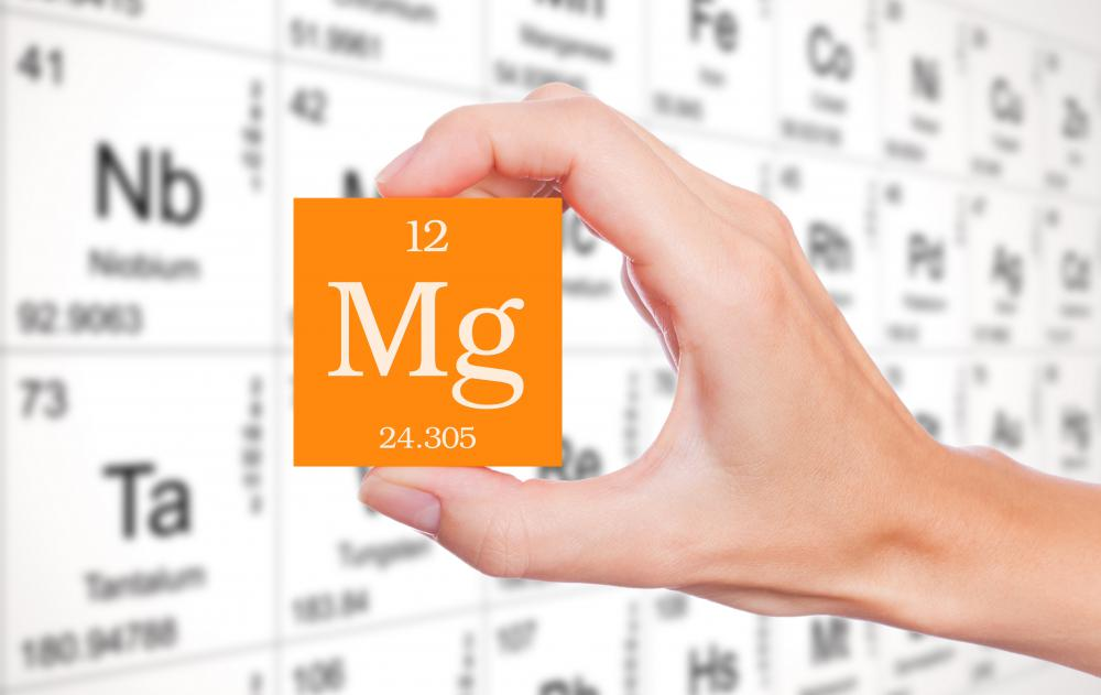When a person has a magnesium deficiency, she may exhibit symptoms such as muscle weakness and fatigue.