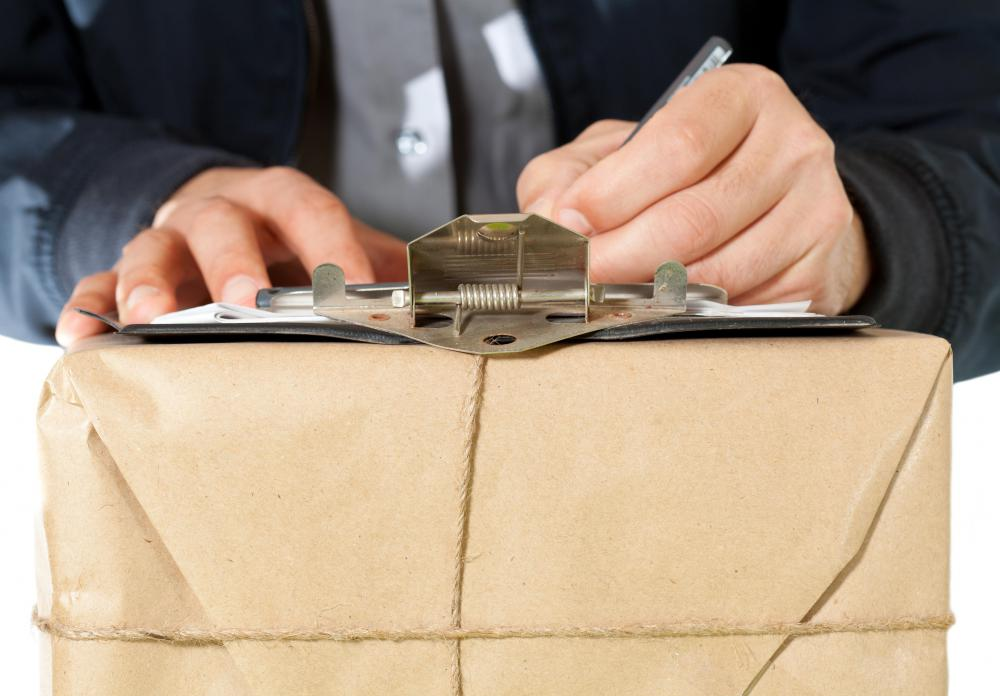 Sending a package via registered mail includes signatures at every transit point.
