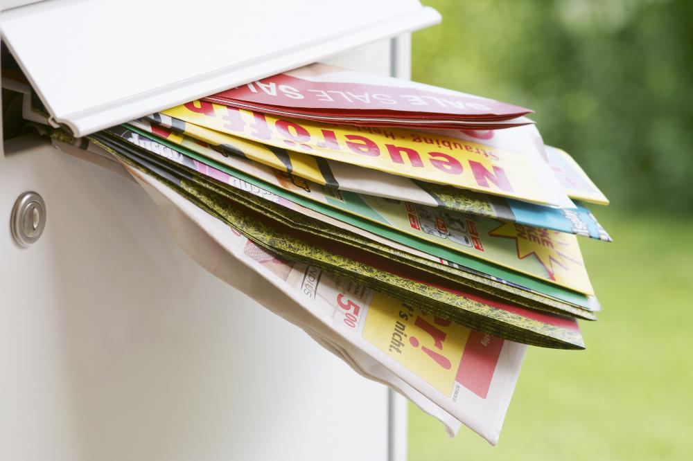 Sales flyers are a common form of direct mail advertising.