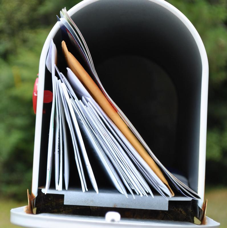 Easily accessible mailboxes may be easy targets for identify theft.
