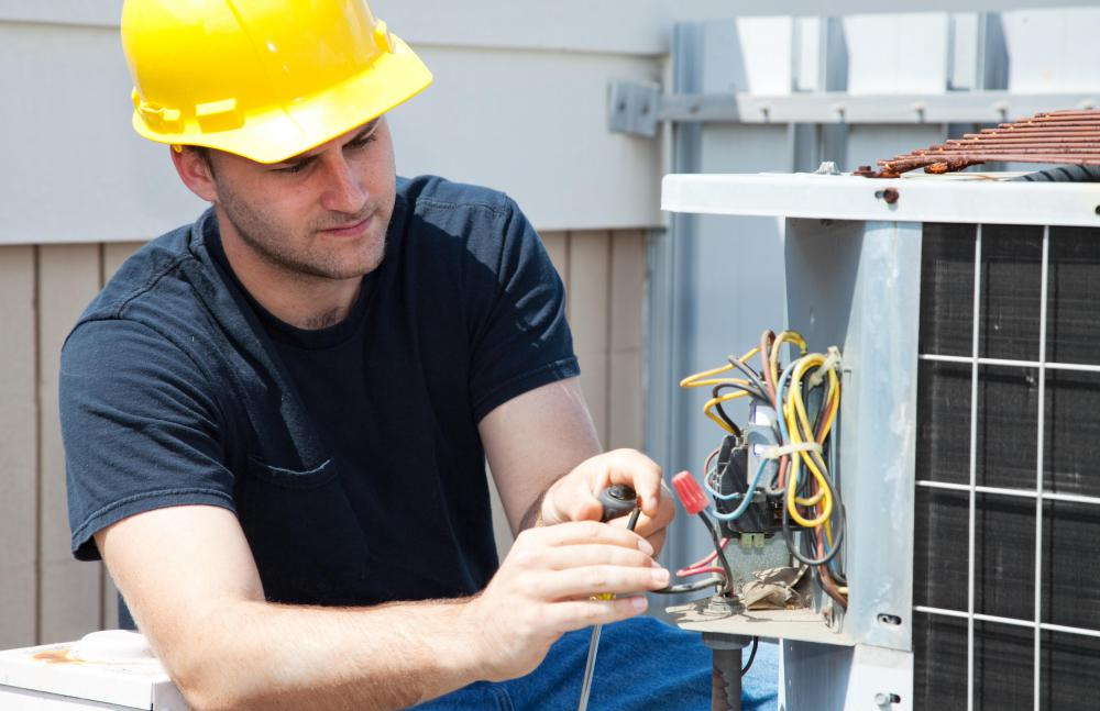 Maintenance of a commercial building's HVAC system, plumbing and grounds maintenance fall under facilities management.