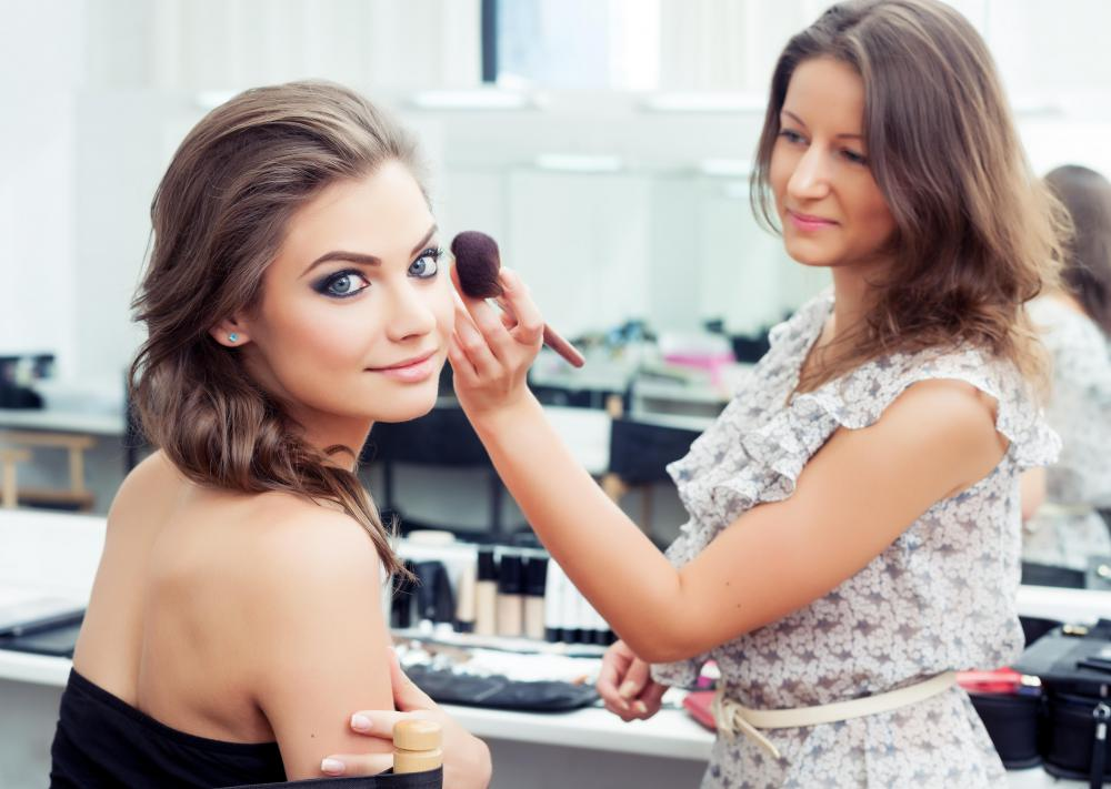 Spray foundation is popular with makeup artists.