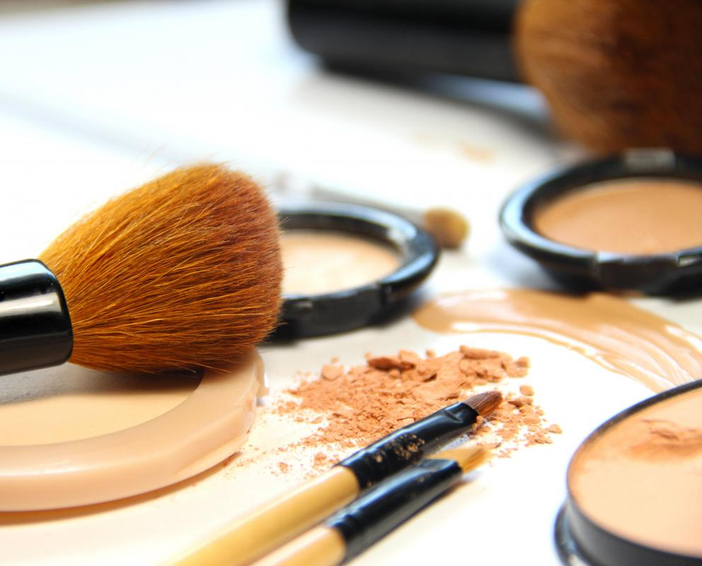 Pressed powder is typically packaged in a compact.