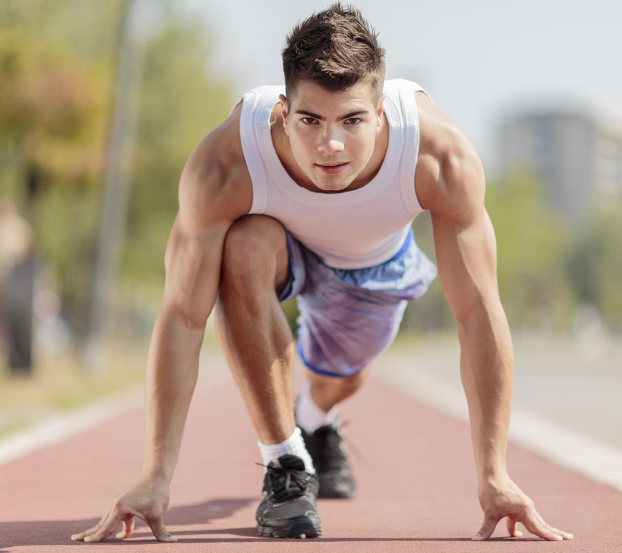 Track and field events, such as those of the Junior Olympics, include sprints, long jumps, pole vaults and shot put.