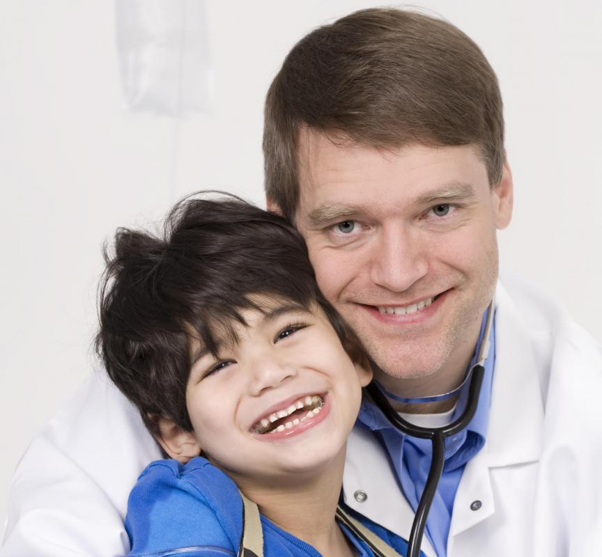 Doctors who work with children must be patient, compassionate and have a positive bedside manner.