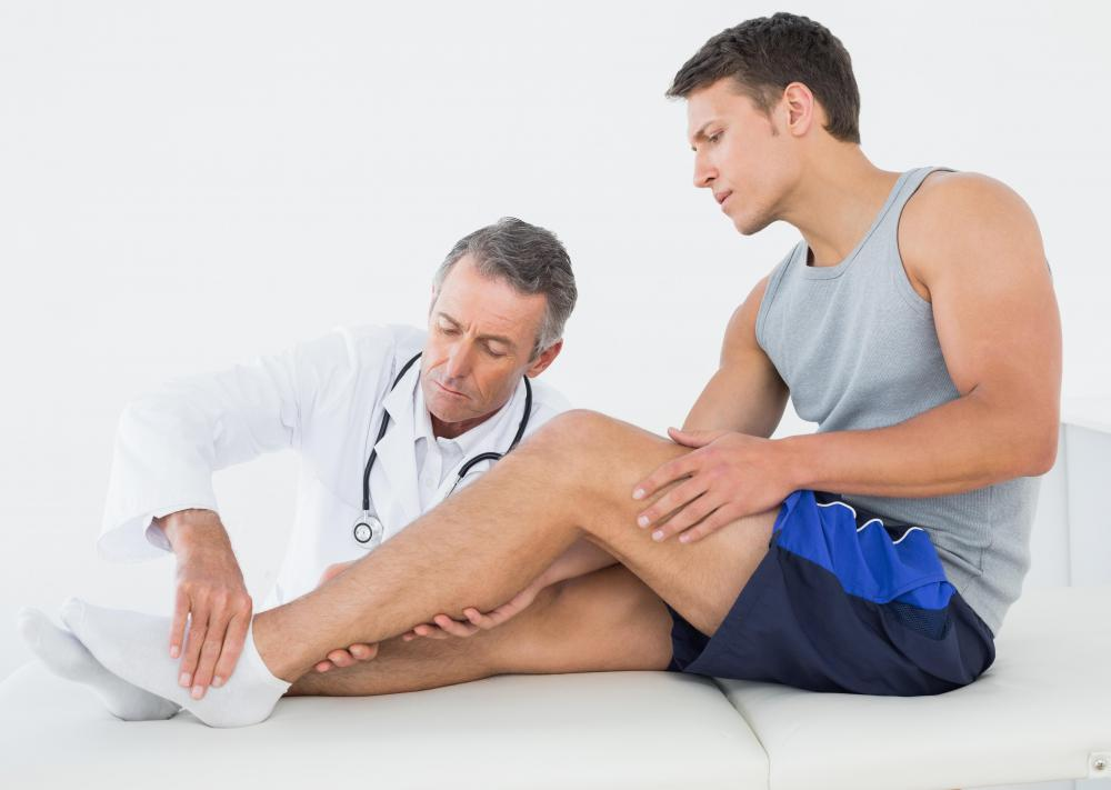 Raised leg ankle stretches may help heal a sprained ankle.