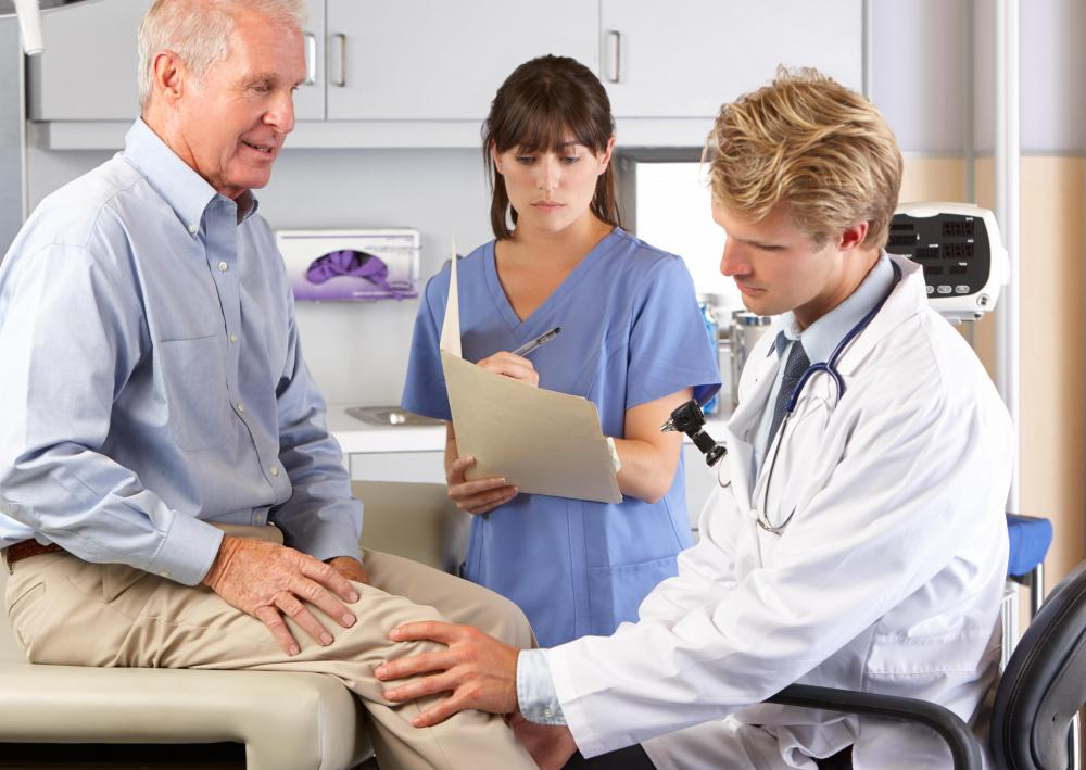 Upon physical exam, a doctor will perform various tests to determine if there is a tear in knee cartilage.
