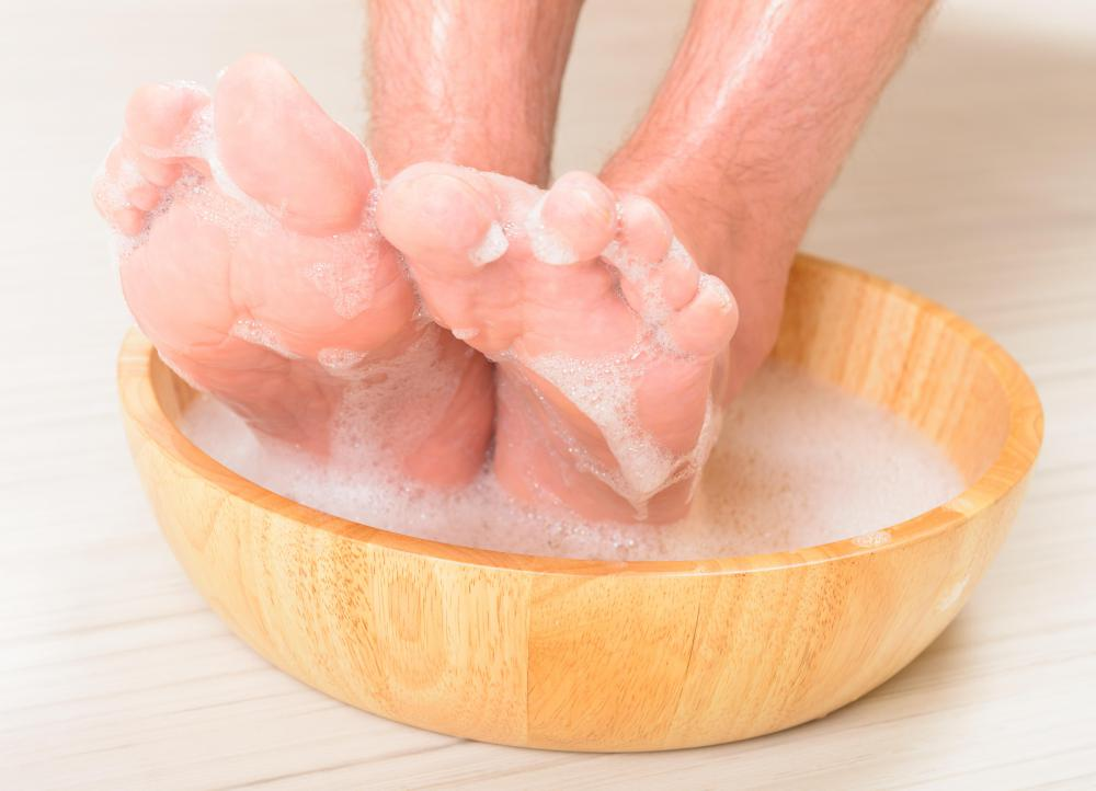 Regularly washing your feet helps remove toe jam and its pungent odor.