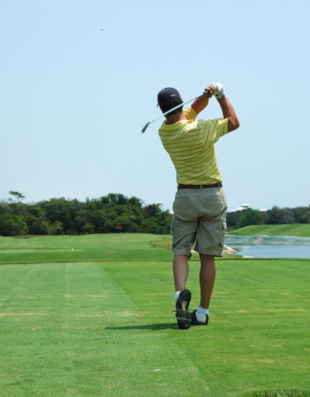 A therapeutic treatment plan may try to control a problem where a patient is stressing his back too much during his golf swing.