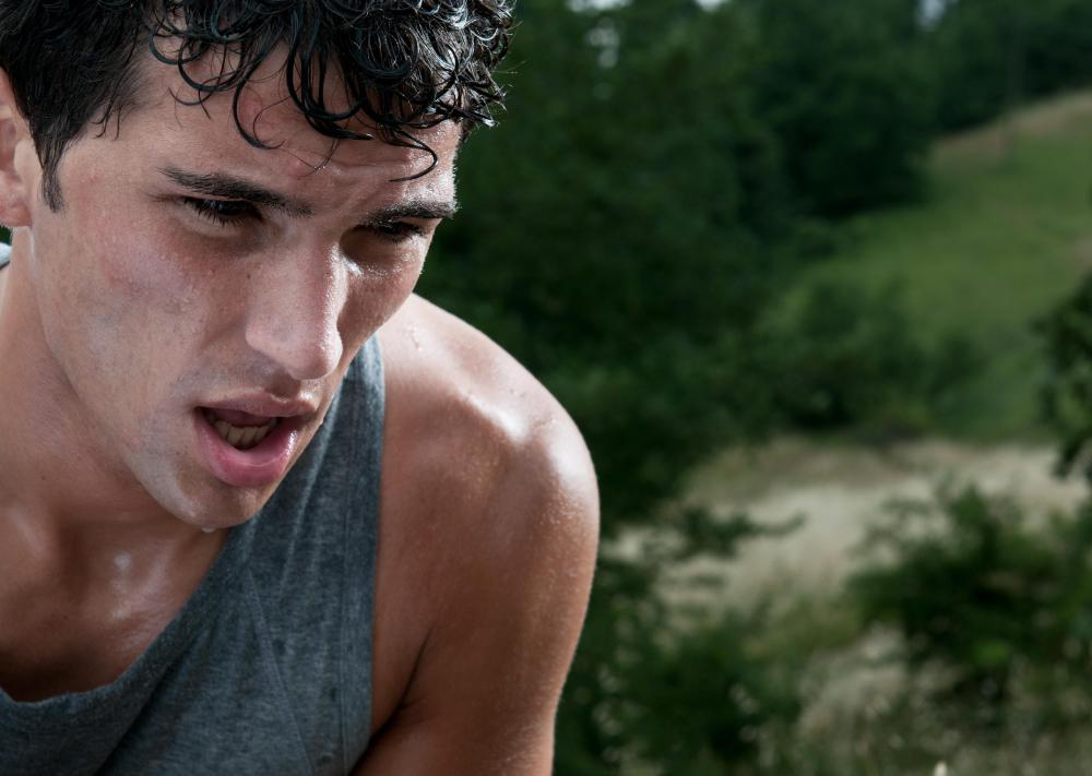 Excessive sweating may be a symptom of an anxiety attack.
