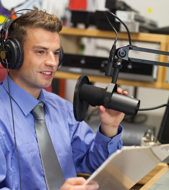 A sportscaster may work for a radio station.