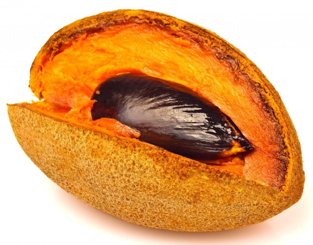 Mamey fruit is oblong in size and is known to have a sweet taste.
