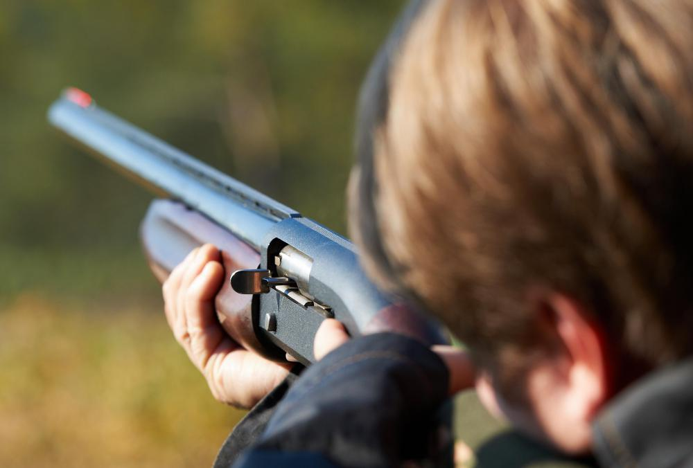 A shotgun is used in skeet shooting.
