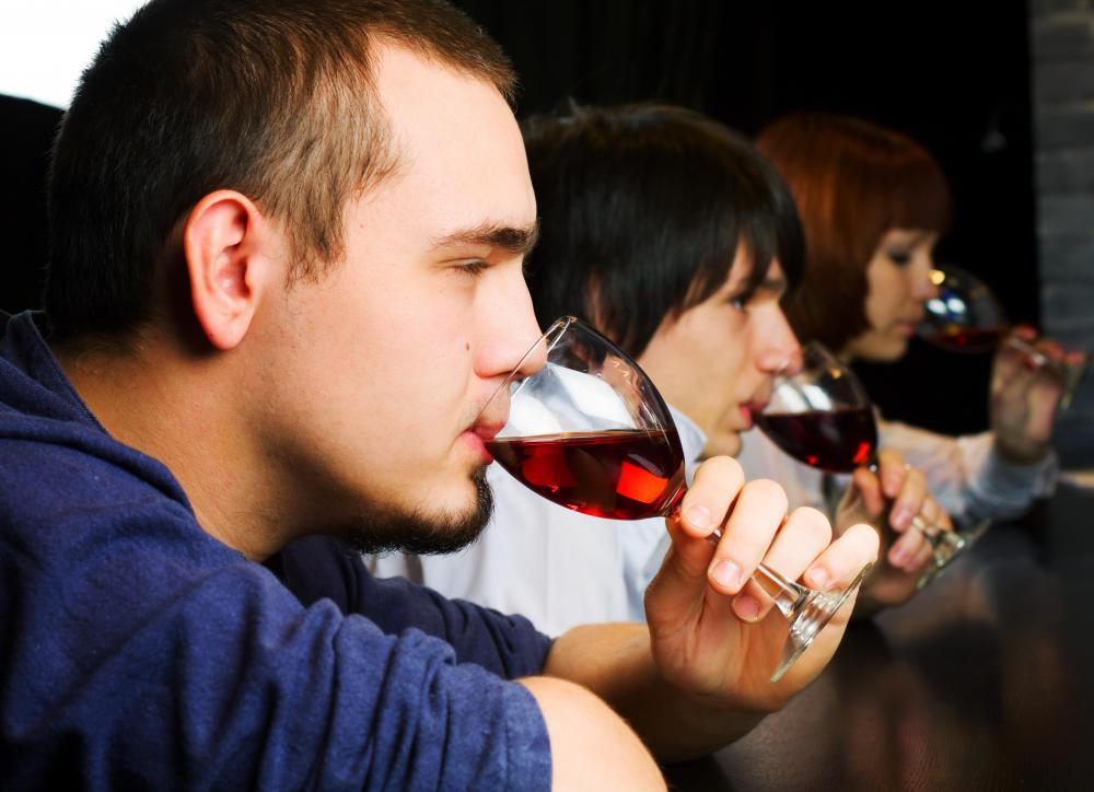 People participating in a wine tasting event might bring a sober driver with them.