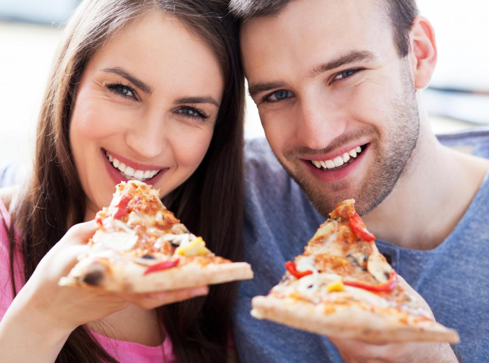 Pizza is a popular party food.