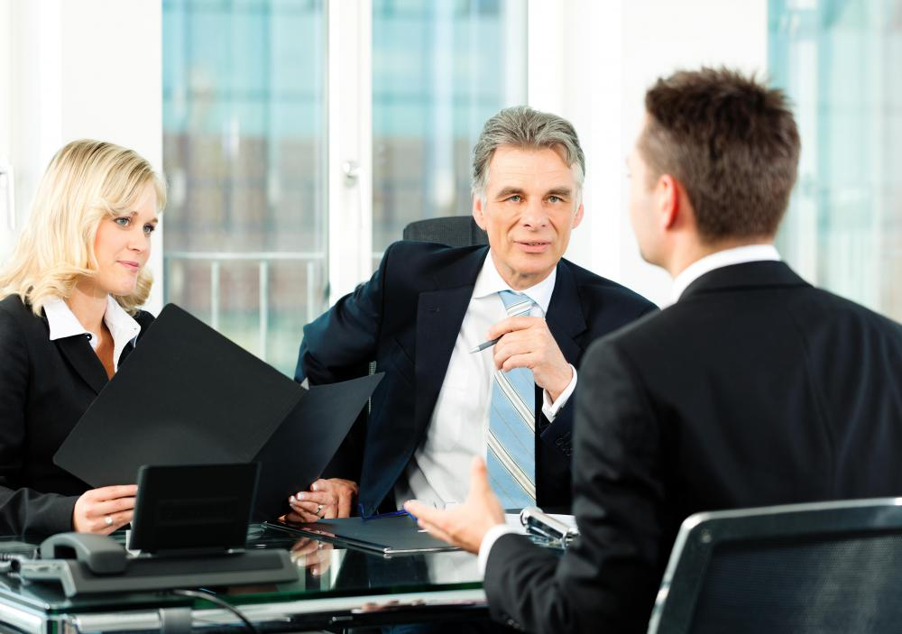 Personnel directors might sit in on job interviews.