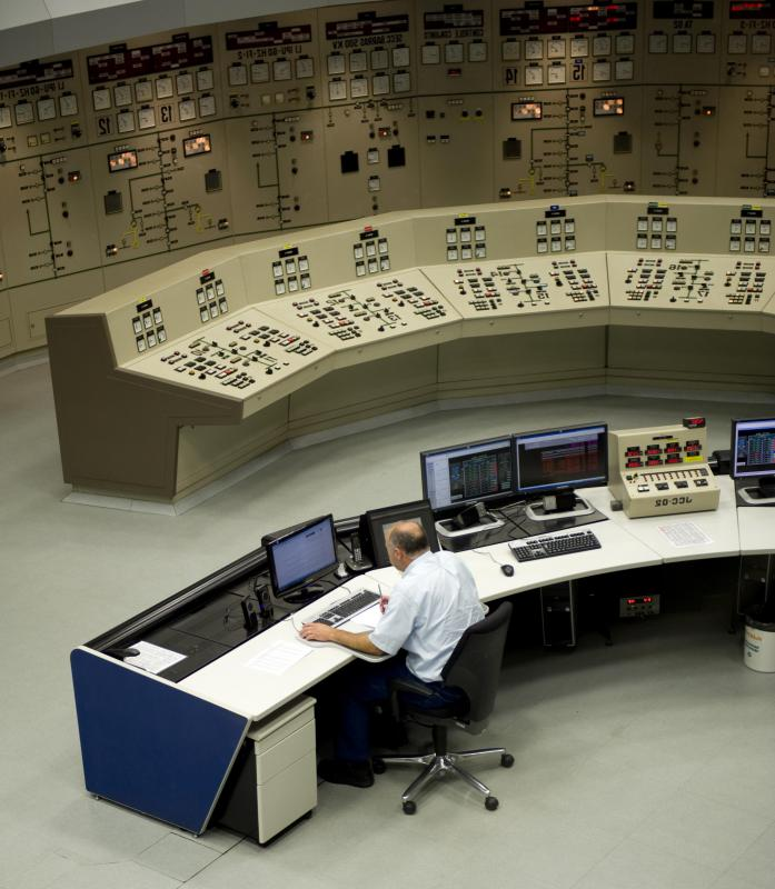 A single computer terminal can control a power plant.