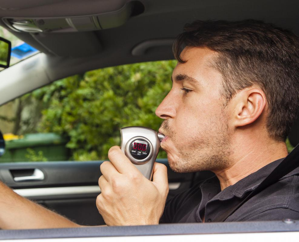 Alcohol can cause a motorist to fail a breathalyzer test.