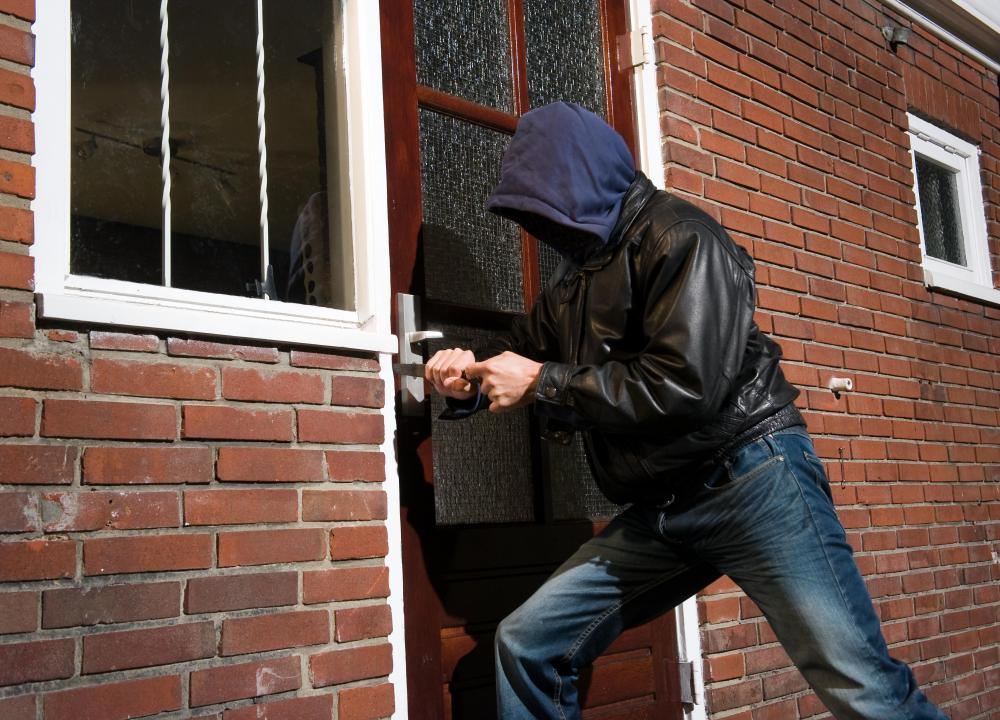 Burglary typically involves breaking and entering, while larceny doesn't.