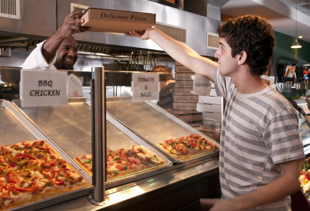 Pizza parlors must compete with eateries that don't sell pizza, such as sushi restaurants, for customers.