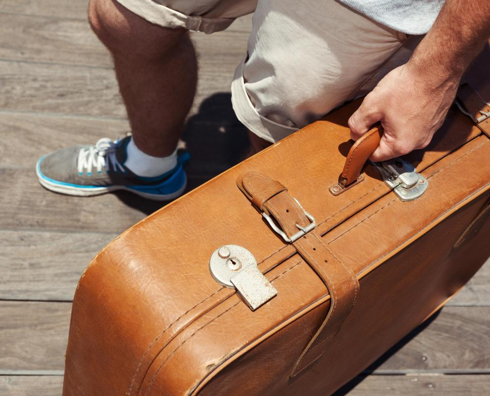 Luggage may be made from full-grain leather.