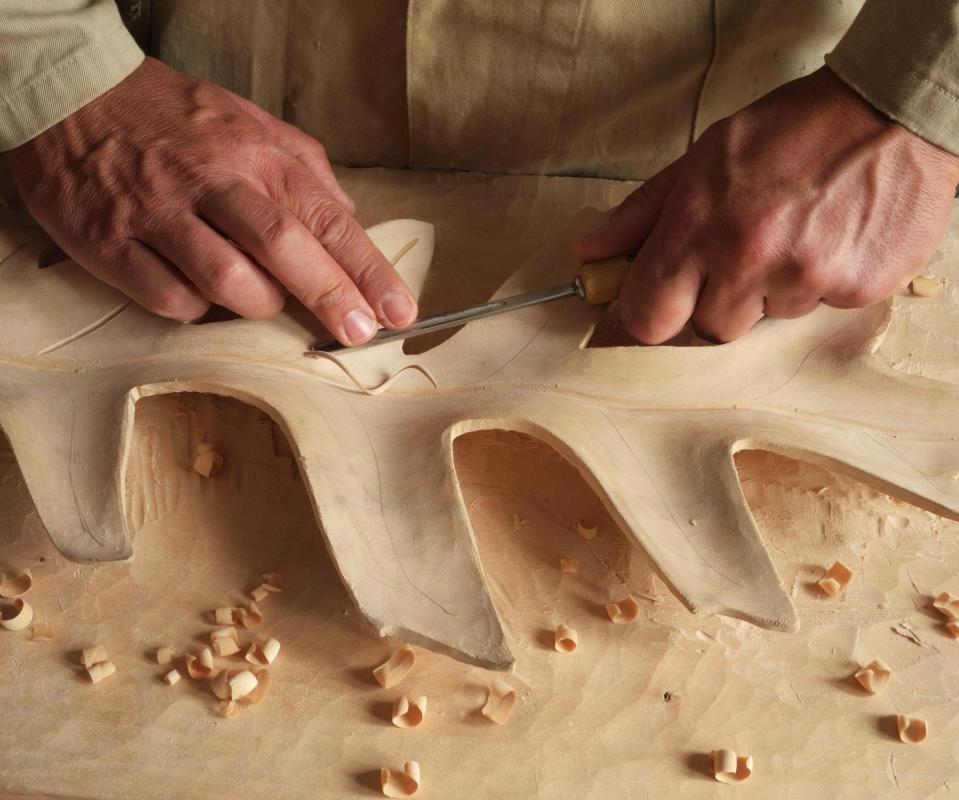 Virtually any wood can be used for carving, though some are favored for particular qualities.