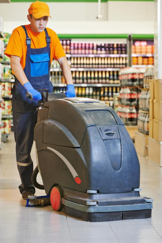 Custodians clean many types of businesses, including supermarkets.