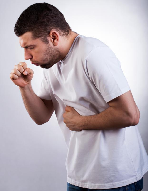 Inflammation of the mediastinal pleura may result in dry cough.
