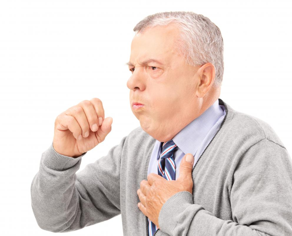 A lingering cough may be caused by the flu.