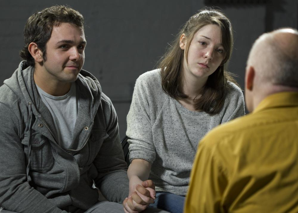 A mental health counselor might work with couples in a troubled relationship.