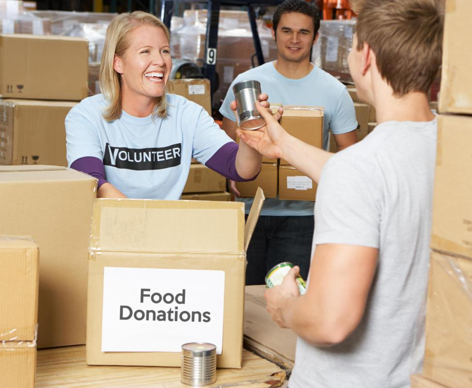 Food donations to community drives might qualify for a tax-deductible receipt.