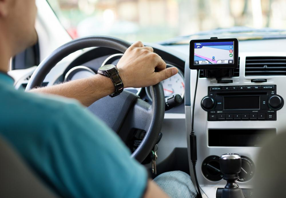 GPS navigational systems may be used in vehicles.