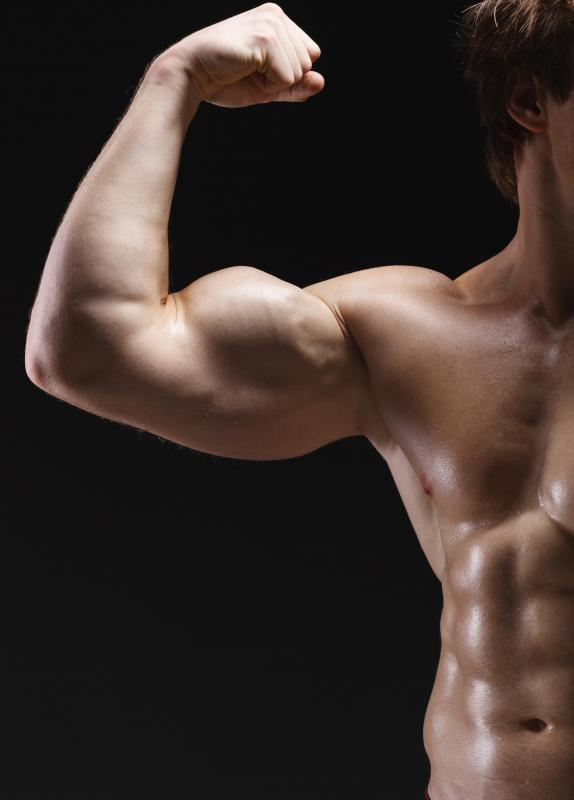 Steroids may be used to help build muscle.