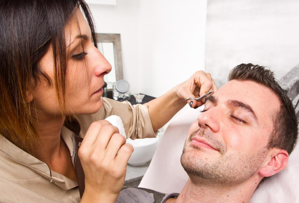 Eyebrow trimming works best on individuals who have thick lashes.