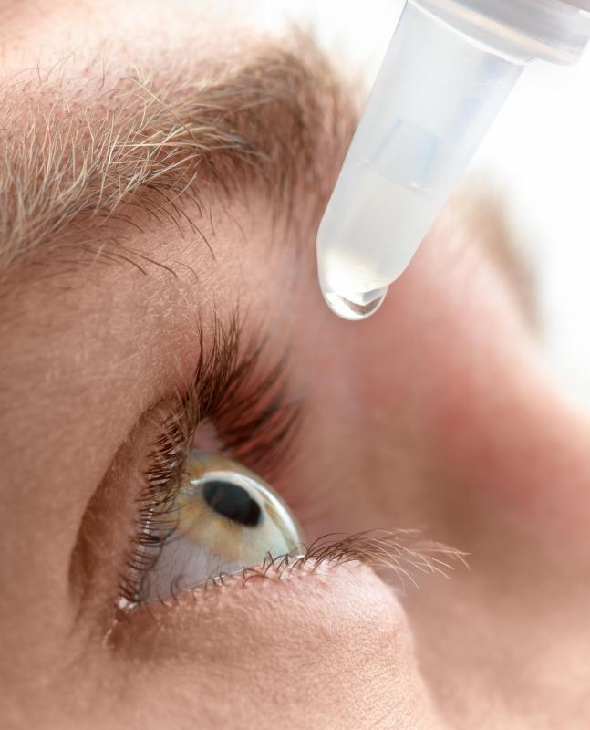 Eye drops can help relieve sharp eye pain.