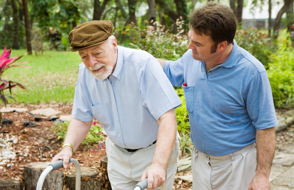 Physical therapists assistants may help elderly people overcome mobility issues.